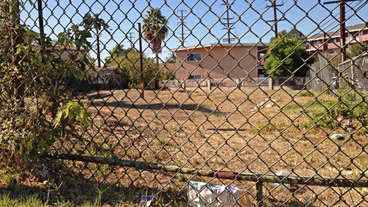 Vacant lot on the corner of Fletcher Dr. and Ave. 35 in Glassell Park