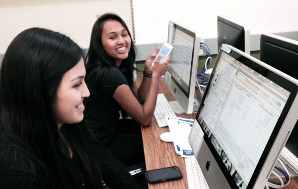Jennifer and Jasmine, Mountain View High School Students - During Love is Respect El Monte Twitter Party