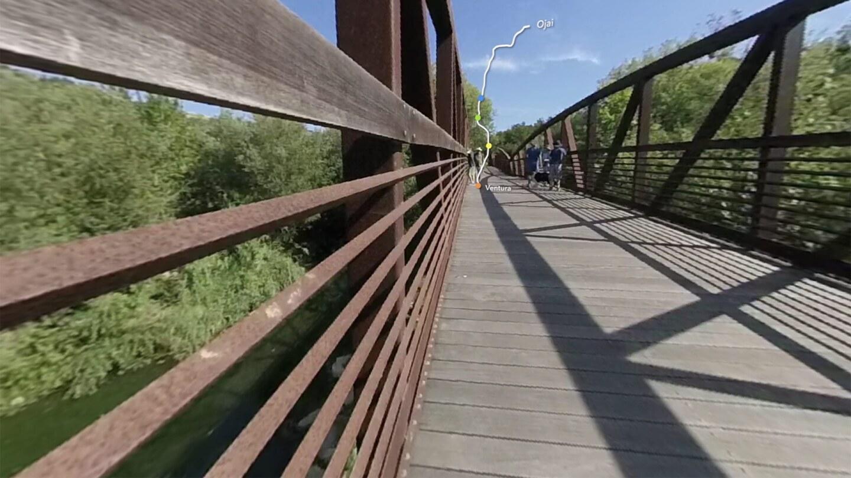 360 Image of Bridge on Ojai Valley Trail