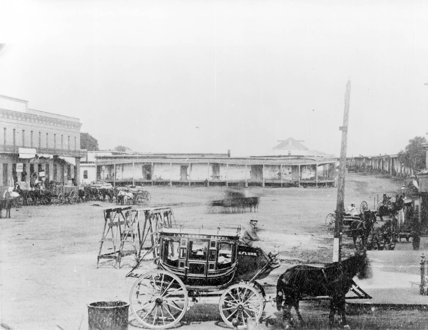 Old Chinatown, Los Angeles, which was the scene of Chinese riots of 1871