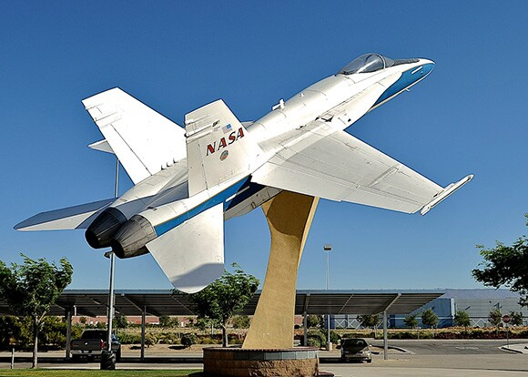F-18 outside of JetHawk Stadium | Charles Hood