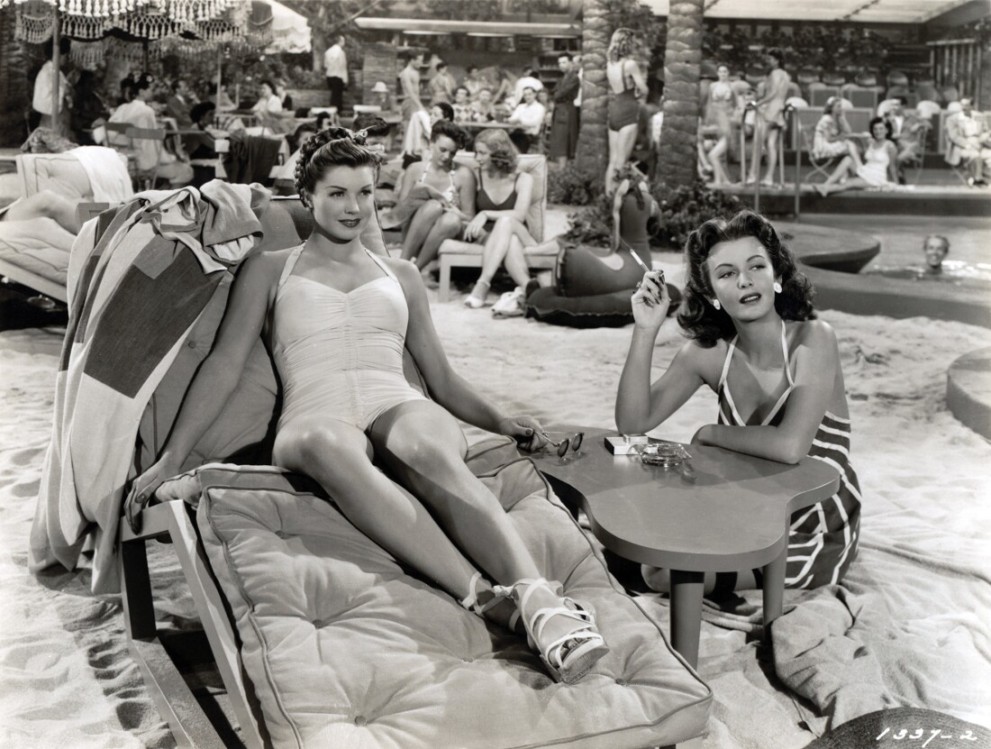"""8x10 BW photo of Esther Williams in """"Thrill of a Romance"""" from MGM, in 1945. 