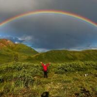Double rainbow in Wrangell-St. Elias National Park, Alaska