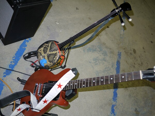 Okinawan musical instrument and banjo-like ''Sanshin'' is part of the instrument set of Bitter Party | Photo: George Villanueva