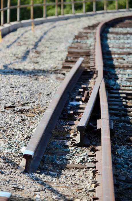 Broken railroad tracks at Taylor Yard. | Courtney Cecale