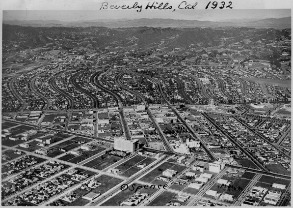 Aerial view of Beverly Hills, 1932. Courtesy of Beverly Hills Historical Collection
