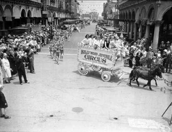 Parades of all kinds went through Weingart Avenue and the new Venice of America.   Photo courtesy of Los Angeles Public Library