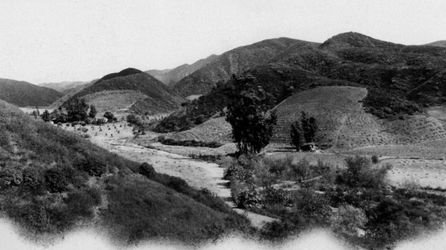 Benedict Canyon in 1890. Courtesy of the Beverly Hills Public Library Historical Collection.