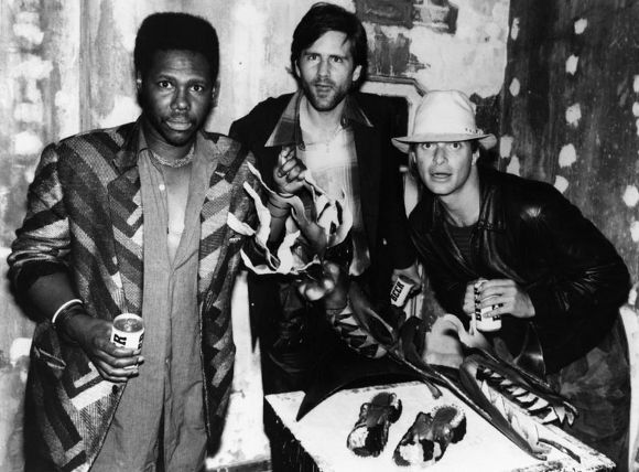 Nile Rodgers (left) gallery owner John Polchna (middle) David Lee Roth (right) | Photo: LAPL.