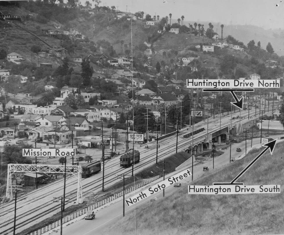 Soto Street Bridge over Mission Road in 1936.