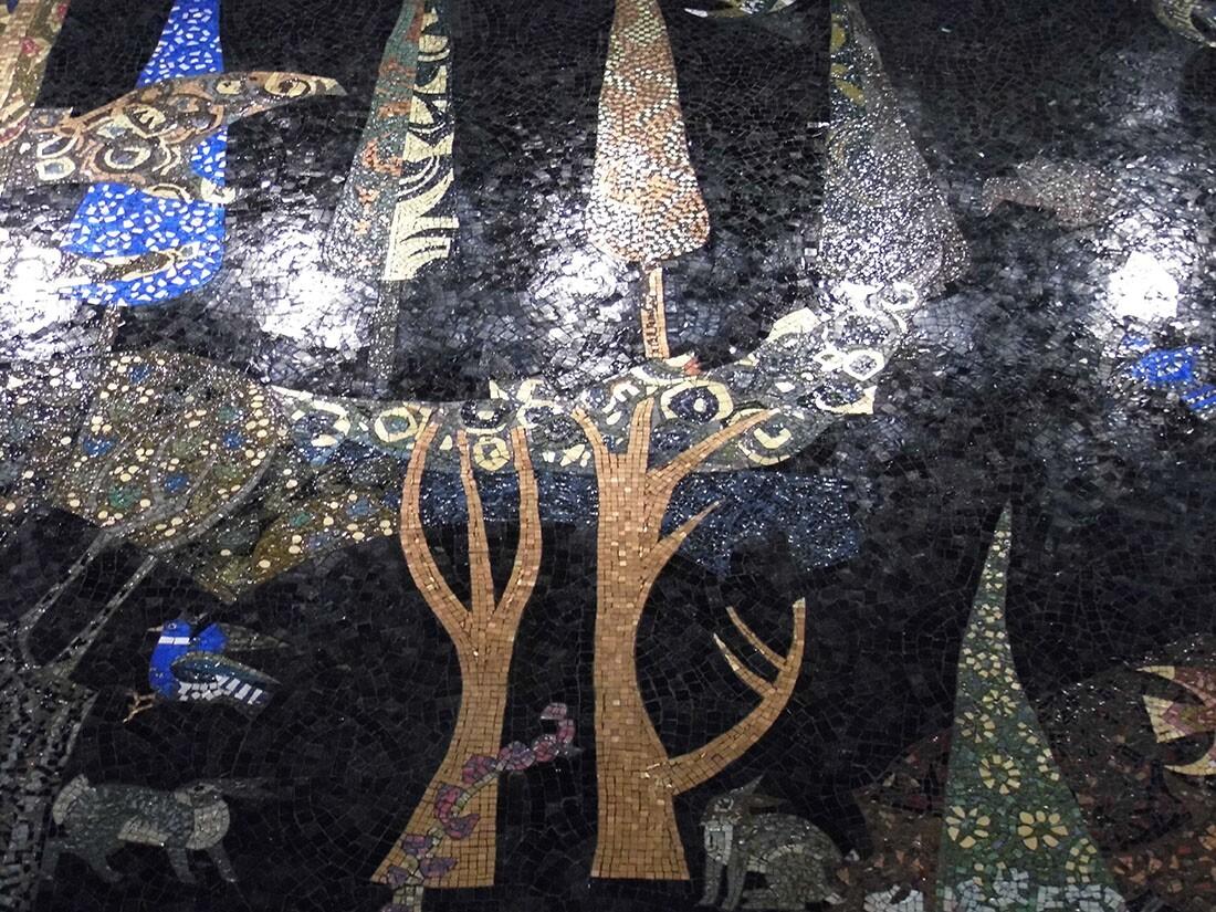 Millard Sheets mosaic mural | Sandi Hemmerlein