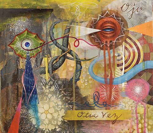 "GERMS, ""Otra Vez,"" acrylic on wood, 12"" x 10"", 2012."