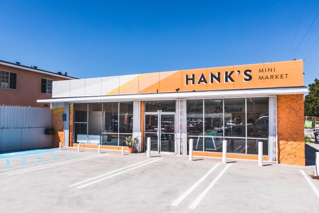 Hank's Mini Mart new exterior   Courtesy of  Los Angeles Food Policy Council