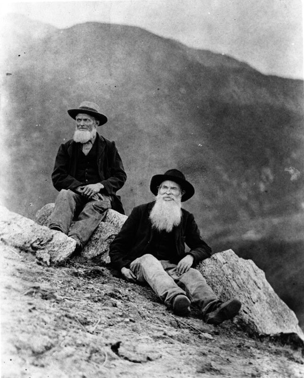 Abolitionist John Brown's sons, Owen and Jason Brown, hiking the San Gabriel Mountains in 1884. Courtesy of the Photo Collection, Los Angeles Public Library.