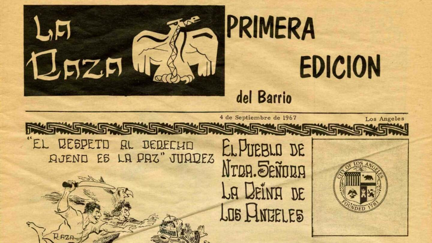 La Raza first edition Volume 1, No. 0, September 4, 1967 | Courtesy of UCLA Chicano Studies Research Center