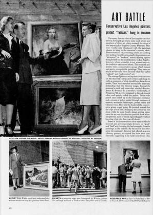 The Club in an art battle in 1947