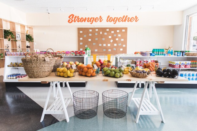 Hank's Mini Mart now offers better selections for its residents and a more inviting interior   Courtesy of  Los Angeles Food Policy Council