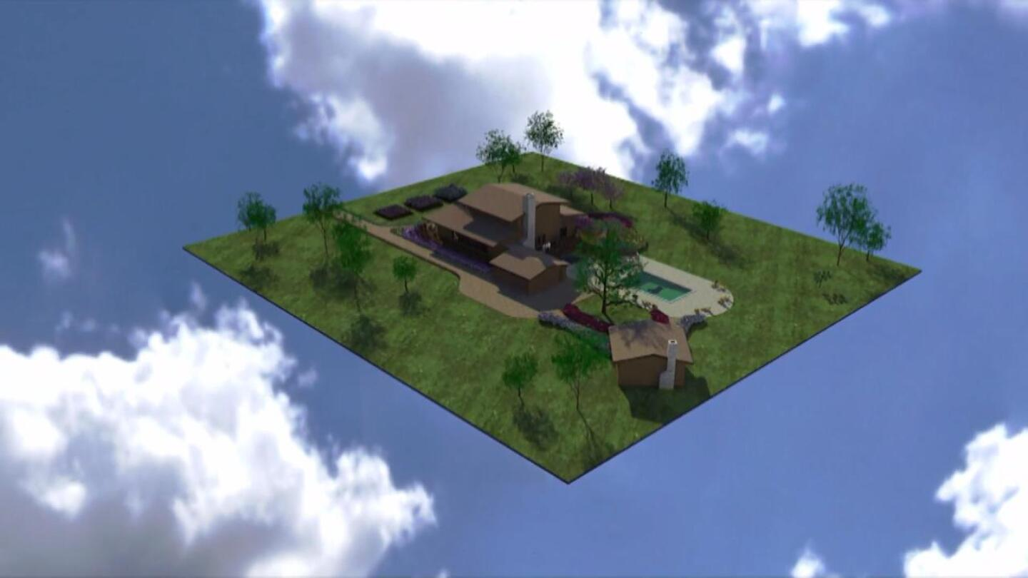 """A rendering depicting Herman Wallace's dream home.   Still from """"Herman's House"""""""