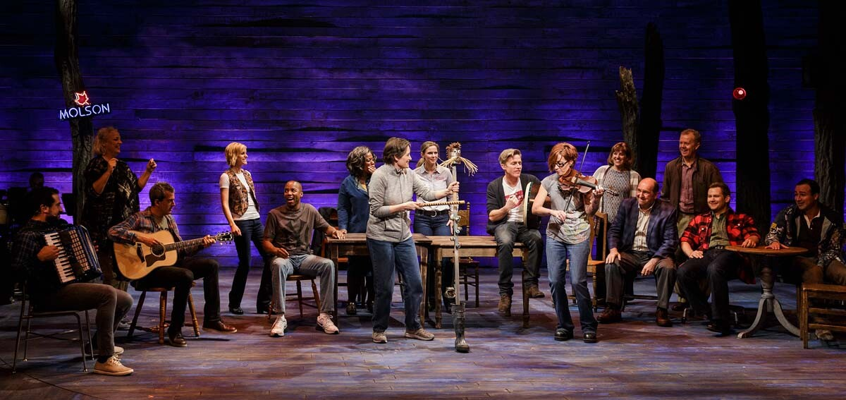 "The cast of La Jolla Playhouse's world-premiere production of ""Come From Away."" Book, music and lyrics by David Hein and Irene Sankoff, directed by Playhouse Artistic Director Christopher Ashley. 