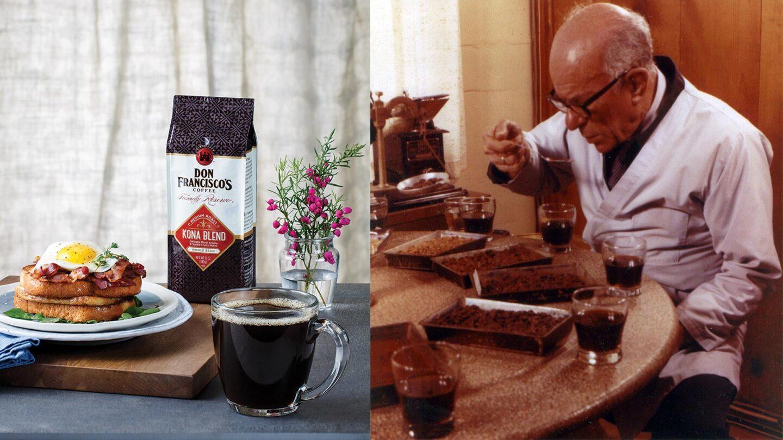 Don Francisco with his namesake coffee | Courtesy of Gaviña Coffee Company