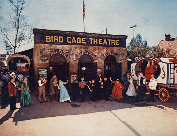 Bird Cage Theater inside Knott's Berry Farm, 1954. Courtesy of the Orange County Archives.