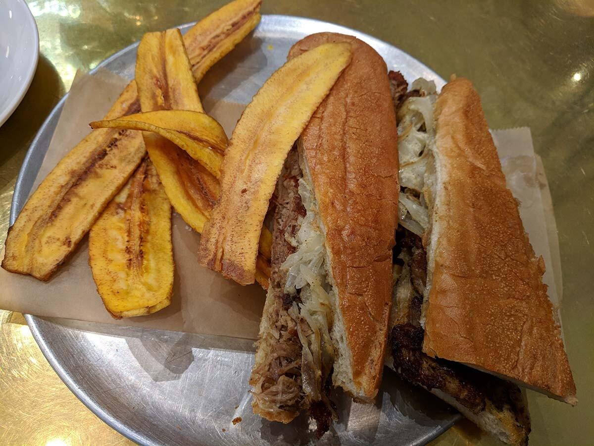 Pan con lechon at Don Francisco Casa Cubana   Courtesy of Gaviña Coffee Company