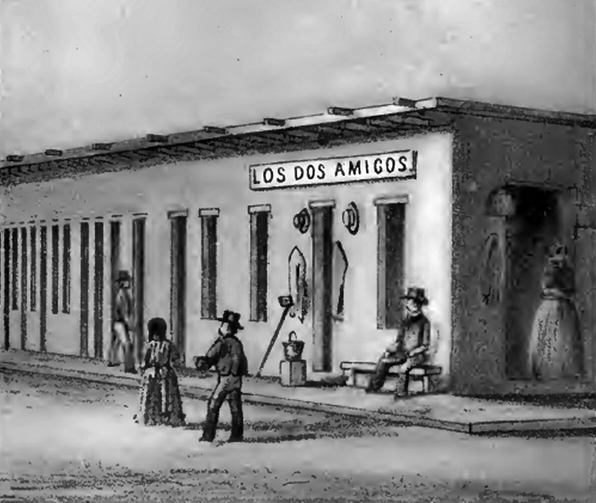 Los Dos Amigos, 1857.