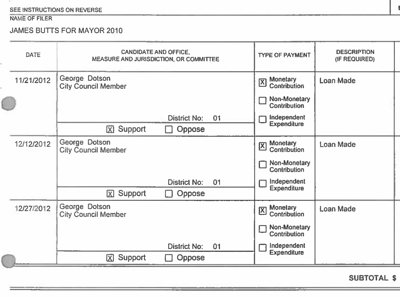 Screenshot of Inglewood mayor James Butts loans