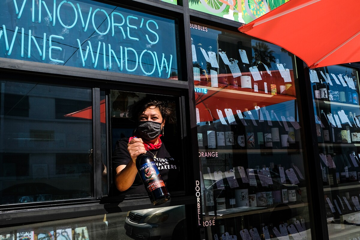 Vinovere's new wine window | Courtesy of Vinovore