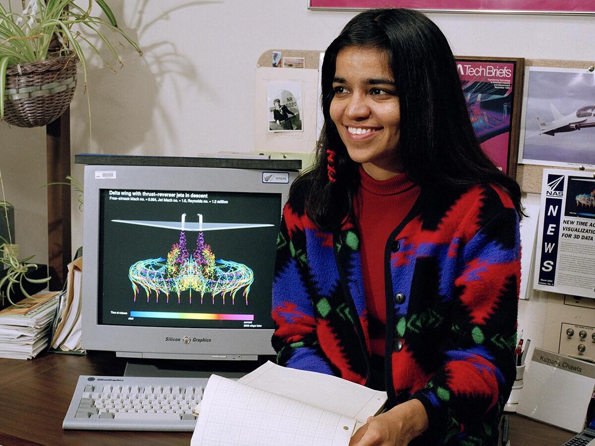 Kalpana Chawla in Oct. 1995 when she was an astronaut candidate working at NASA. | Cesar Acosta/NASA