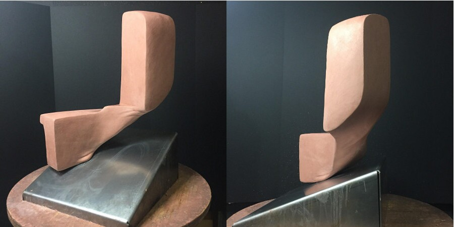 A sculpture by Charles Long currently in fabrication. | Photos: Courtesy of the artist.