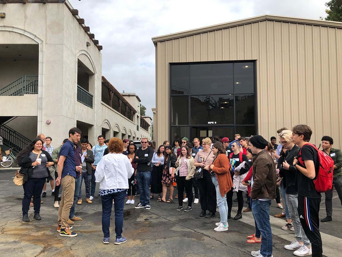"""Fine Cut"" students get a tour of the CBS lot 