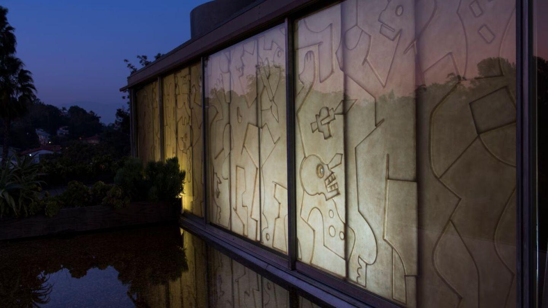 "Tezontle with writer Aris Janigian  installation for ""Tu casa es mi casa"" | Adam Wiseman PST LALA Tu casa"