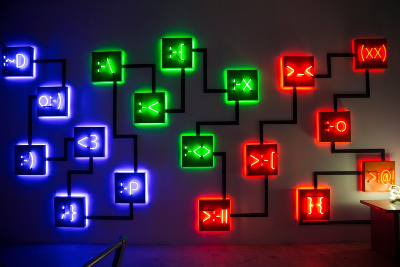 Lisa Schulte's neon sculptures
