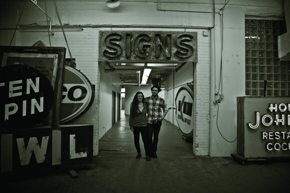 """Faythe Levine and Sam Macon, directors of """"Sign Painters"""" the movie."""