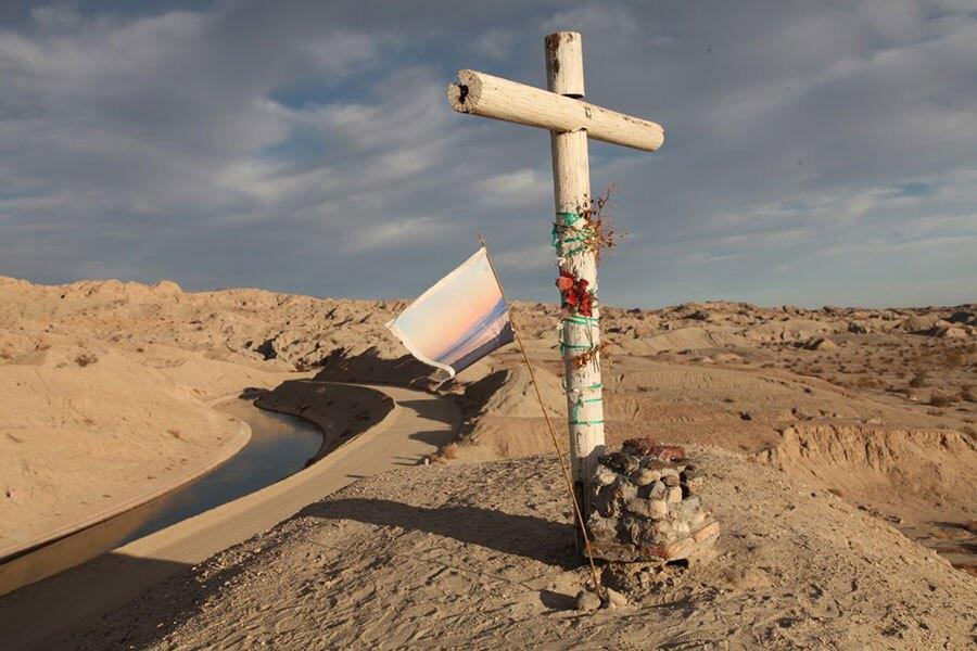 Flag on a hill   Photo: Drew Tewksbury