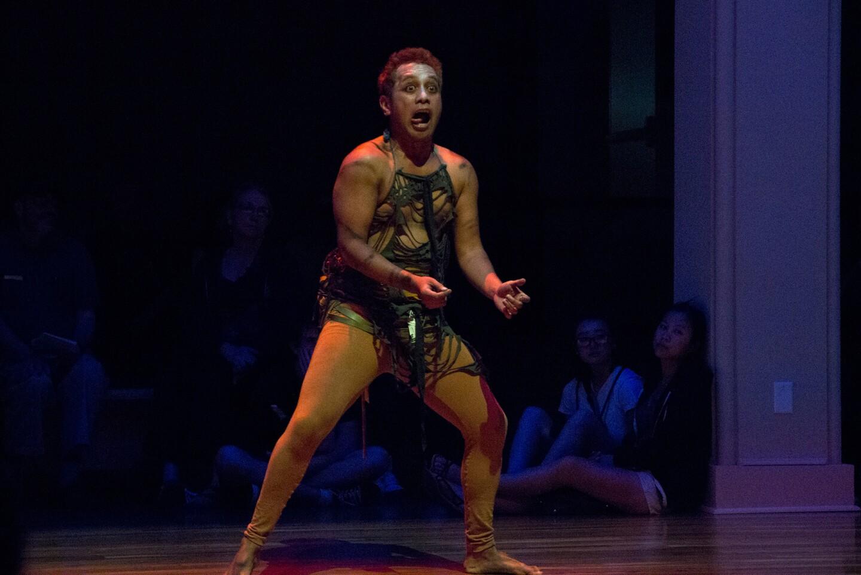 Jack Grey performing at UCR ARTSblock's 2015 Indigenous Choreographers of Riverside event
