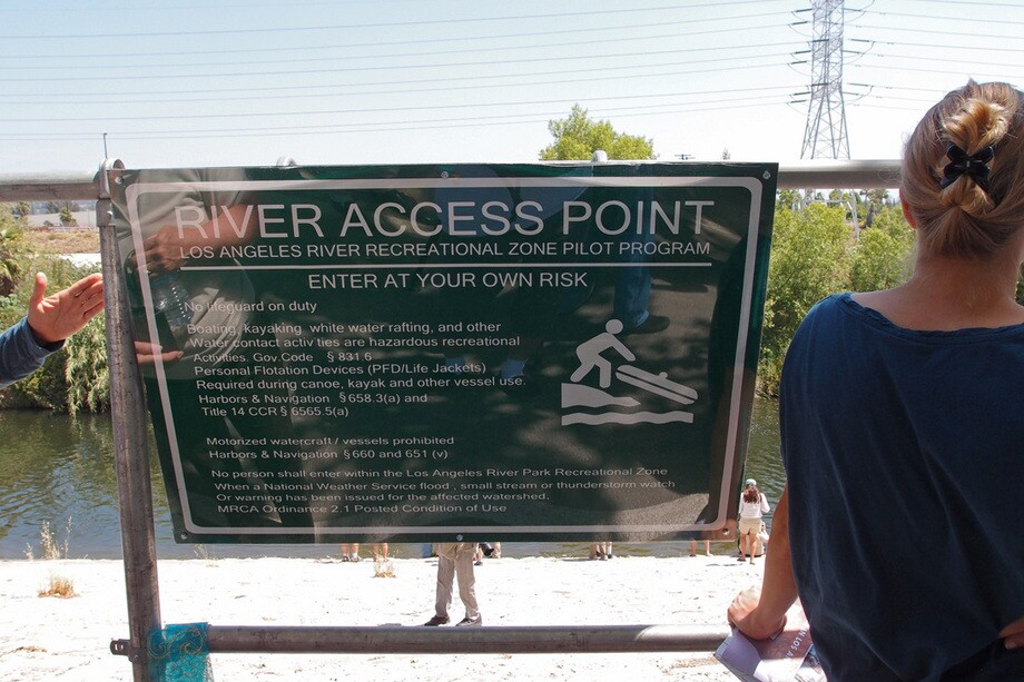 River access point for kayaks at Marsh Park