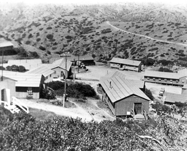 Located on the windward side of the island, Camp Cactus was home to a secret U.S. Army Signal Corps radar facility. Courtesy of the Catalina Island Museum.