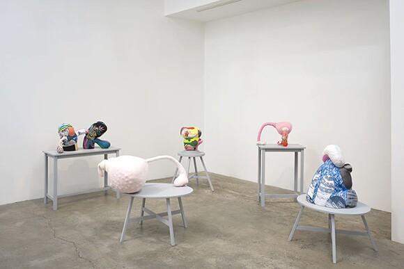 "Installation shot of ""Models for Monuments,"" Luis De Jesus Los Angeles, 2014."