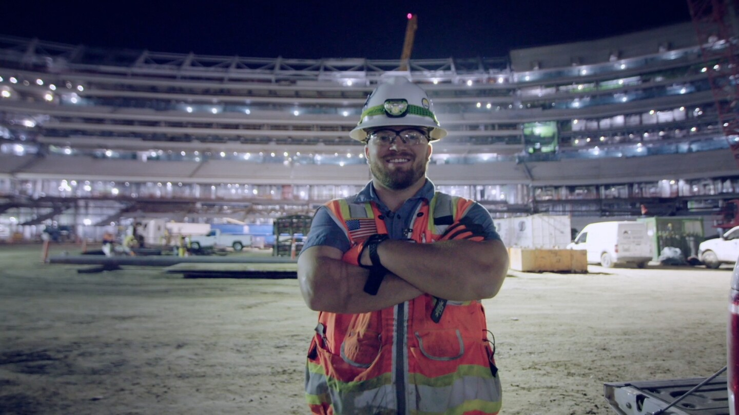 "Vincent works at the future L.A. Rams Stadium | Still from ""Nightshift"""