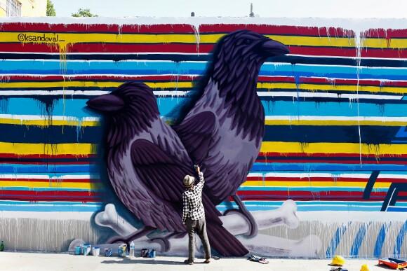 Istanbul mural in progess.   Photo: Mehmet Naci Demirkol.