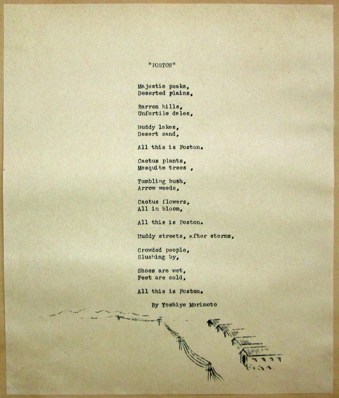 Poston poem   Courtesy of Bill Bell