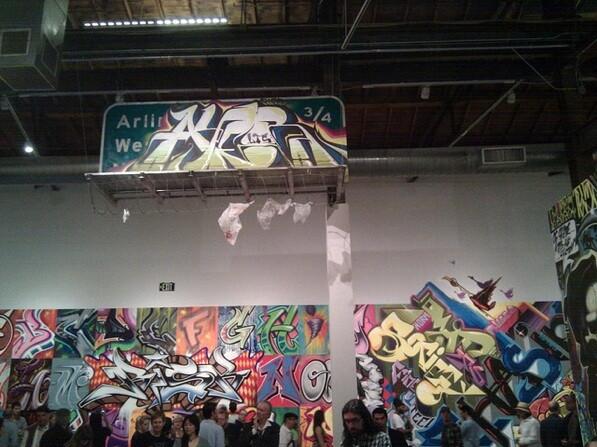 Artwork by Revok at The Geffen Contemporary at MOCA in Little Tokyo
