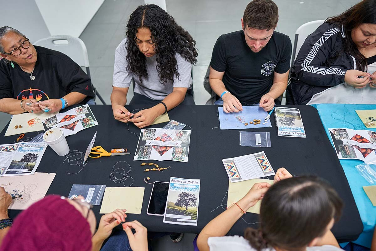 East L.A. youth working on a project for Meztli Projects, which just launched IndigenARTS & Wellness | Eugene Lee
