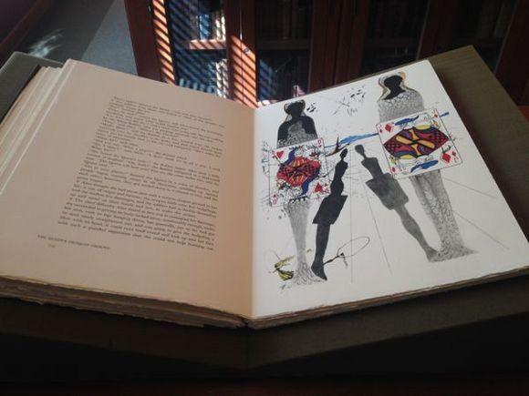 """Alice's Adventures in Wonderland,"" illustrated by Salvador Dali | Photo: Liz Ohanesian"