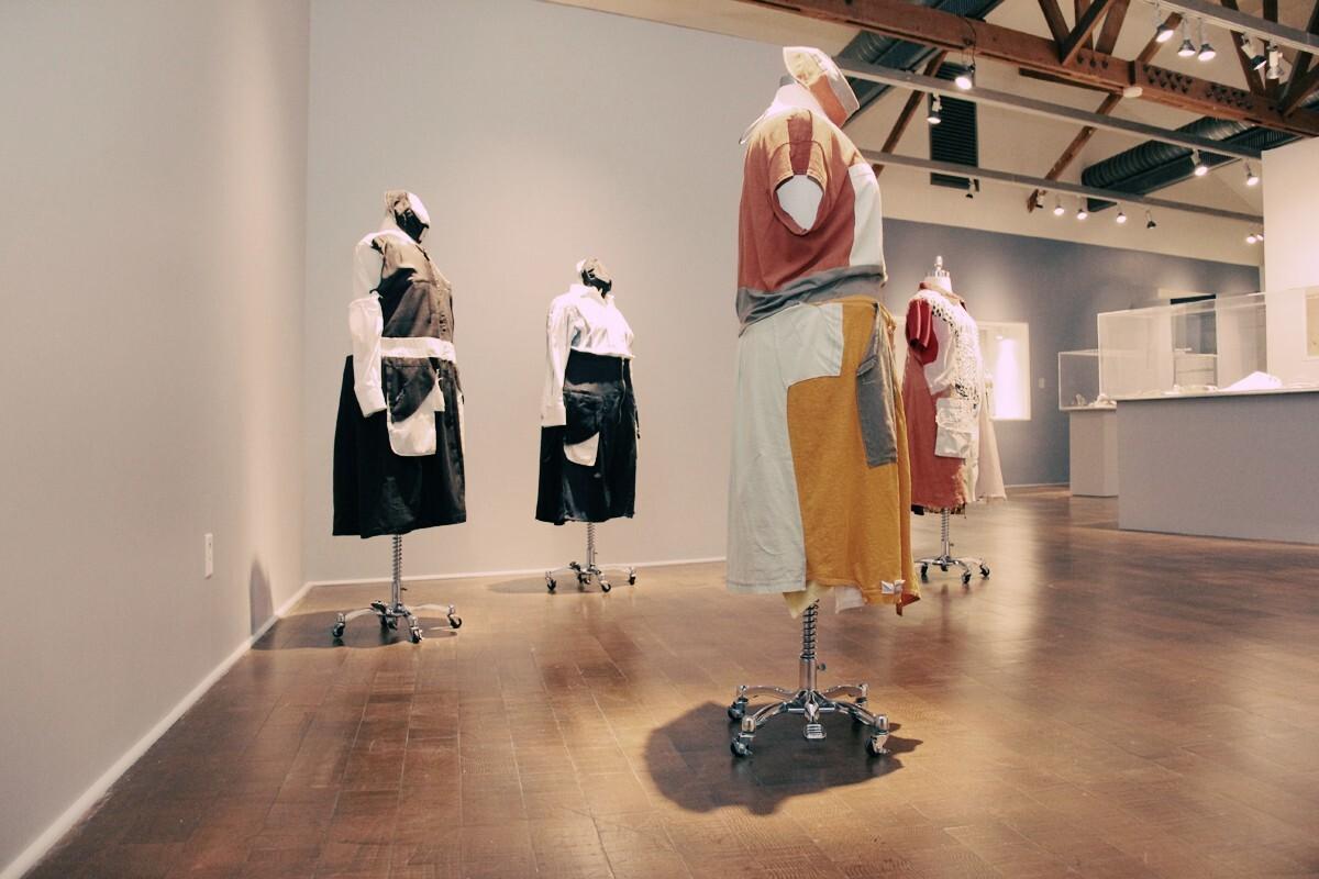 Frau Fiber's Uniforms. Social Fabric exhibition   Craft and Folk Art Museum, 2013