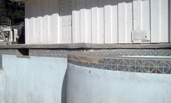 Detail of empty swimming pool in author's backyard. | Courtesy of Tyler Stallings.