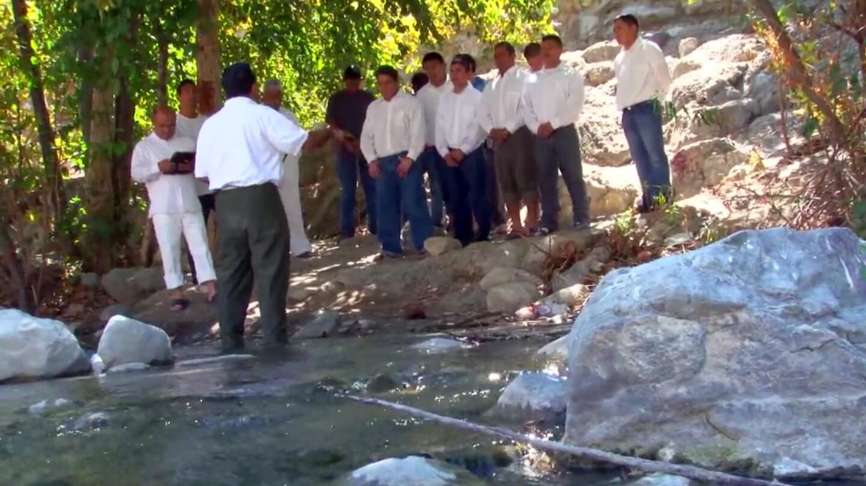 Baptism at the San Gabriel River