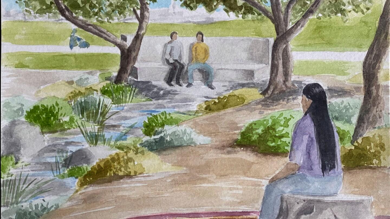 A proposed memorial to the Sleepy Lagoon killing and trial of 1942 by Sandra de la Loza and Arturo Ernesto Romo.   Courtesy of Sandra de la Loza and Arturo Ernesto Romo
